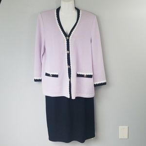 St.John Santana Knit 2 piece set skirt and blazer